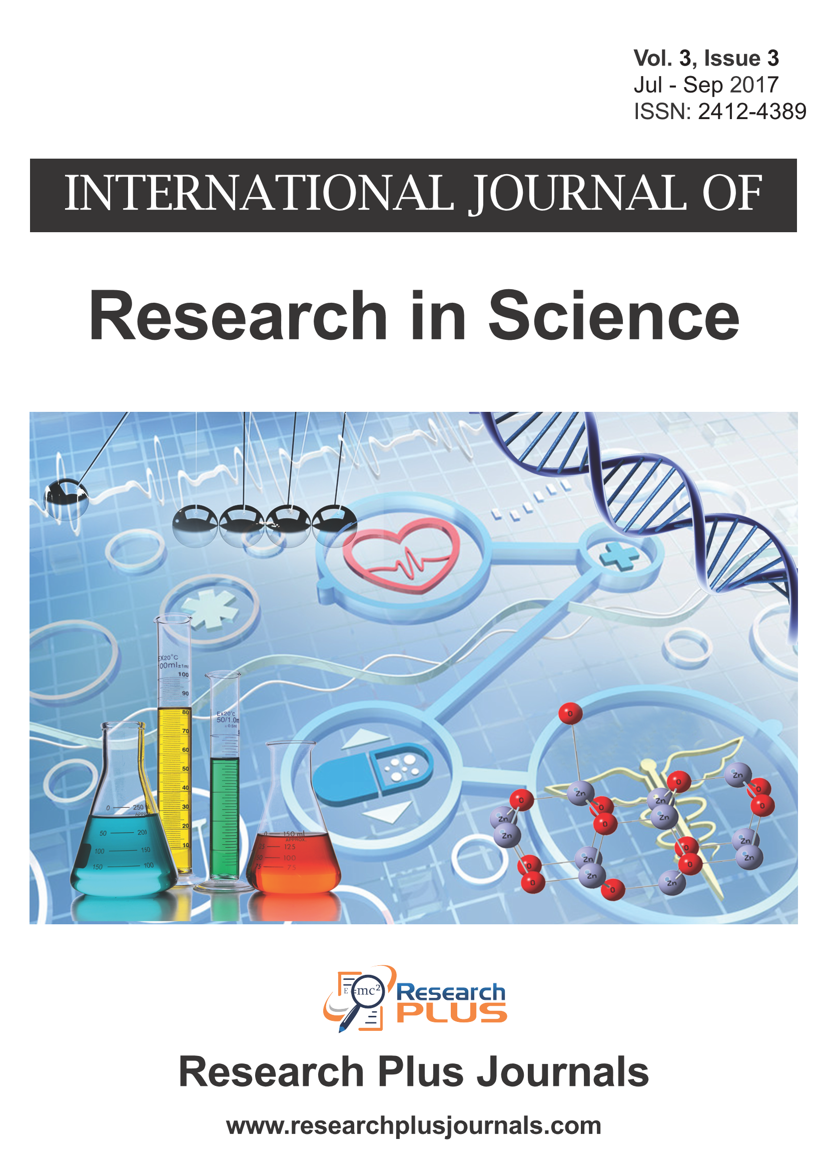 Volume 3, Issue 3, International Journal of Research in Science (IJRS) (Online ISSN 2412-4389)