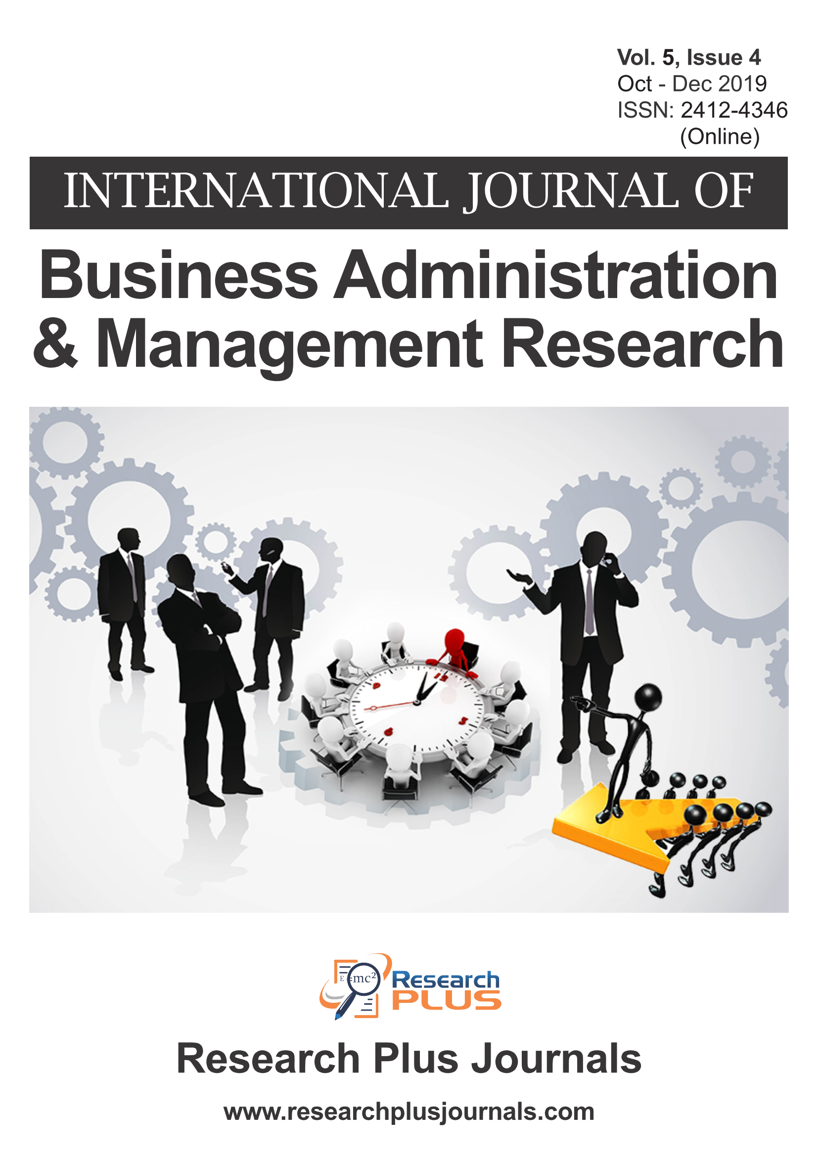 Volume 5, Issue 4, International Journal of Business Administration and Management Research (IJBAMR) (Online ISSN: 2412-4346)